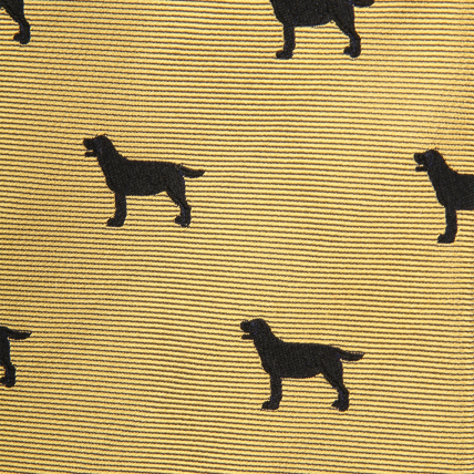 Woven Black Lab Bow - Yellow